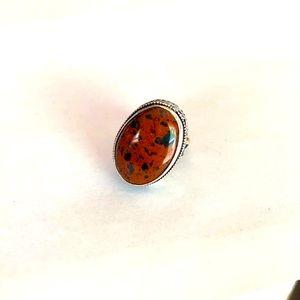 A beautiful gemstone stamped 925 ring